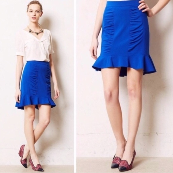 Anthropologie Dresses & Skirts - Anthropologie HD Paris Ruched Ruffle Pencil Skirt